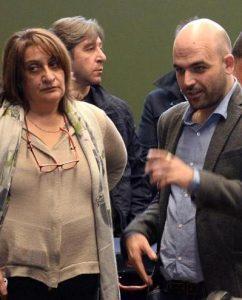 Lo scrittore Roberto Saviano e la giornalista Rosaria Capacchione  ANSA/ CIRO FUSCO