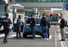 WCENTER 0XQDCCKDAN                Massima all'erta all'aeroporto di Fiumicino dopo l'attentato di questa mattina all'aeroporto di Bruxelles, 22 marzo 2016. ANSA/ TELENWES