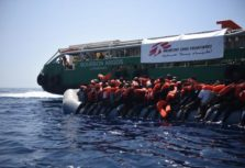 23rd may 2016. Three boats containing approximately 150 people each were rescued in the Mediterranean Sea by the Bourbon Argos and taken to Sicily, Italy.
