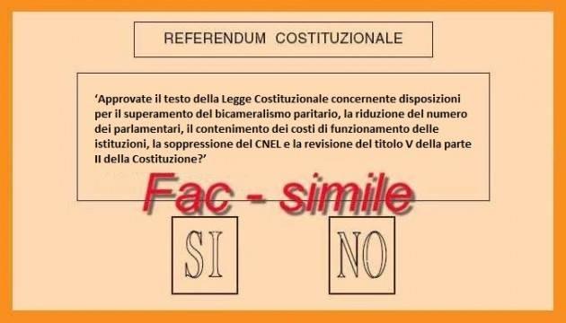 Referendum costituzionale 4 dicembre. Sì o No: intanto parliamone e spieghiamolo