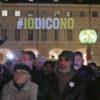 02/12/2016 Torino, Piazza San Carlo, chiusura della campagna referendaria per il NO del M5S