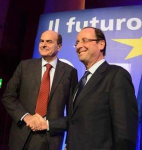 La sfida di Hollande e Bersani alla destra di Merkel e Sarkozy