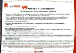 99 Parole per il Cinema Italiano