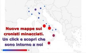 Nuove mappe sui cronisti minacciati