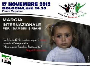 Una marcia della pace per i bambini siriani