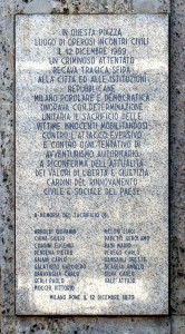 A 43 anni da Piazza Fontana, per non dimenticare*
