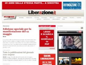 "Torna ""Liberazione"", on line"