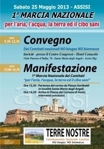 Assisi, la pioggia non ha fermato la Prima Marcia per la salute, l'aria, il cibo, l'acqua, la terra puliti
