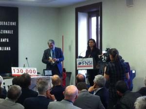Assemblea Articolo 21, consegnato il premio Giuntella alla libertà di stampa a Laura Boldrini
