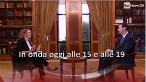 Il direttore di RaiNews24 Monica Maggioni intervista Bashar al-Assad. In onda oggi alle 15 e alle 19