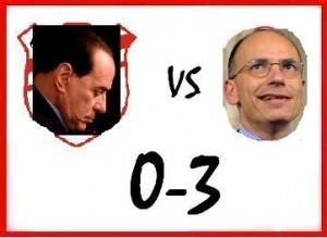 Berlusconi 0 – Letta 3: vittoria in trasferta