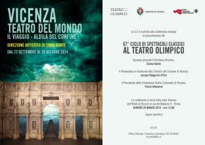 Emma Dante per Teatro Olimpico Vicenza. Incontro a Roma, 20 marzo, ore 12