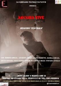 """""""Ancora vive"""".  In scena il 5 marzo ore 21 teatro Antigone"""