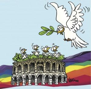 25 APRILE, dall'Arena si parte per una concreta strada di Pace