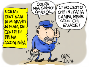 Immigrati in fuga