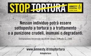 26 giugno: l'Italia introduca il reato di tortura nel codice penale!