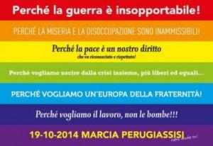 """Insieme alla Perugia Assisi contro la """"Terza guerra mondiale"""""""