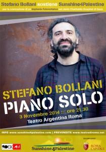 """""""Light for Gaza!"""" Stefano Bollani piano solo al Teatro Argentina"""