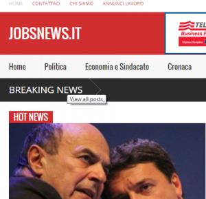 Jobsnews.it, l'ambizione di un nuovo giornale on line