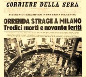 Strage Piazza Fontana, 45 anni fa