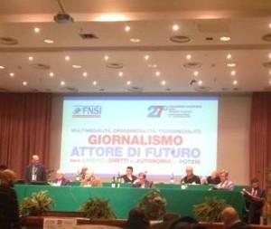 Congresso Fnsi al via, gli interventi di Siddi, Camporese, Cerrato. I messaggi di Laura Boldrini e Luca Lotti