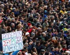 Podemos invade Madrid e inizia la campagna per le elezioni politiche