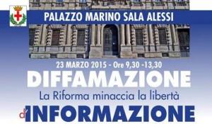 """""""Diffamazione: la riforma minaccia la libertà d'informazione"""", 23 marzo, Milano"""