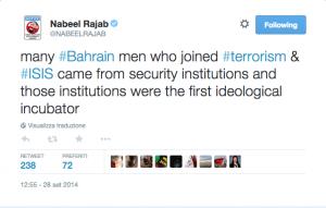 Bahrain, attivista pacifista arrestato per i suoi tweet