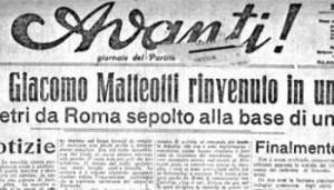 91 anni fa l'assassinio di Matteotti. Un delitto di regime