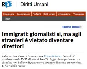 """Giornalisti stranieri: una provocazione """"buona"""" contro una vecchia legge"""
