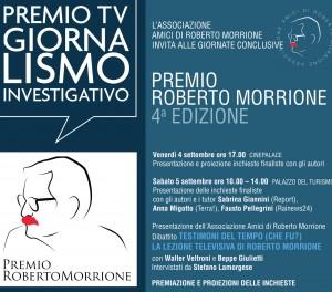 """Il premio Roberto Morrionealle """"Giornate del Giornalismo"""" di Riccione"""