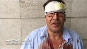 Giornalista sardo aggredito insieme con il suo operatore