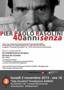 """""""Un Intellettuale in Borgata"""" ricorda Pasolini a Roma e Stoccolma"""