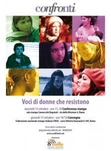 """""""Voci di donne che resistono"""". Martedì 13 ottobre a Roma"""