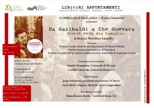 """Presentazione del libro di Beatrice Mortillaro Salatiello, """"Da Garibaldi a Che Guevara. Storie della mia famiglia"""""""