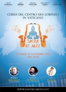 """""""Sacra in Jazz"""" debutta in Vaticanoe fa da apripista al Giubileo"""