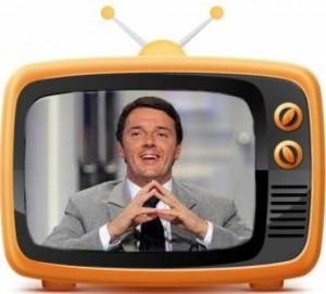 Renzi, l'uomo solo al (tele)comando