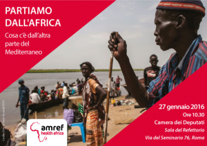 """Partiamo dall'Africa"". Roma, 27 gennaio"