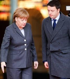 Merkel, Renzi (e Juncker)I Tg di venerdì 29 gennaio