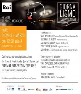 """""""Premio Morrione"""". Il 3 marzo alla Rai la presentazione dei progetti finalisti"""