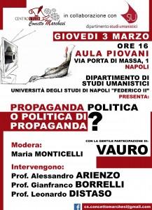 """""""Propaganda politica o politica di propaganda?"""". A Napoli il 3 marzo con Vauro"""