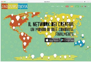 Jai Guru Deva. La App dei creativi e' online!