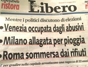 """Omicidio Di Pietrantonio, la Cpo Fnsi: """"Inaccettabile il titolo di Libero"""""""