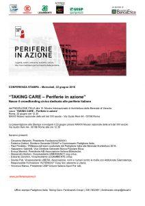 """""""Takin care – Periferie in azione"""". Nasce il crowdfunding civico dedicato alle periferie italiane. 22 giugno Maxxi (Roma)"""