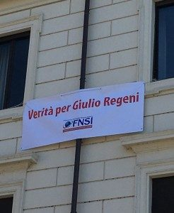 Con Amnesty per il flash-mob al Pantheon per Giulio Regeni