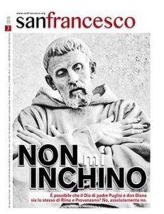 Editoria: rivista San Francesco, Speciale Mafia 'Non m'inchino'