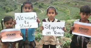Yemen. 4 bambine e 2 bambini tra i 2 e i 14 anni uccisi in un attacco a Sadaa il 4 agosto. Centinaia uccisi e mutilati. Catastrofe annunciata