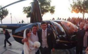 Il nipote del Boss si sposta in modo disinvolto in elicottero