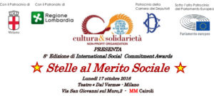 """""""Stella al Merito Sociale"""" per Stefano Corradino, direttore di Articolo21. Questa sera all'8° International Social Commitment Awards"""