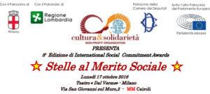 """""""Stella al Merito Sociale"""" per Stefano Corradino, direttore di Articolo21 all'8° International Social Commitment Awards"""